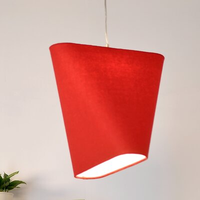 MNM 15.97 Wool Novelty Pendant Shade Color: Red