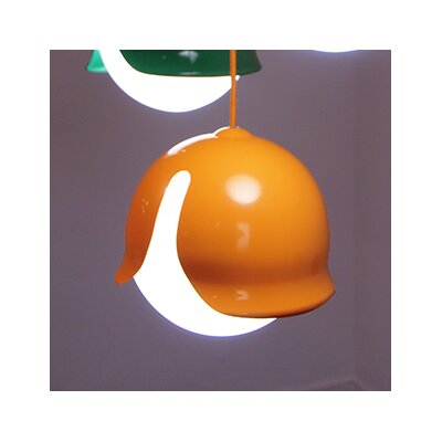 Snowdrop 1-Light Mini Pendant Color: Orange