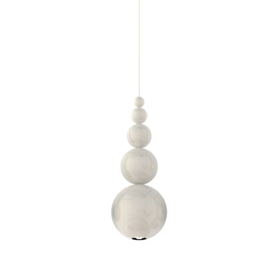 Bubble 1-Light Mini Pendant Color: White