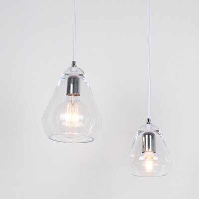 Core 1-Light Mini Pendant Size: 9.4 H x 5.9 W x 5.9 D, Finish: Clear