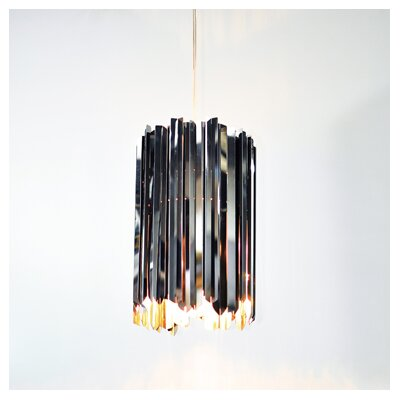 Facet 1-Light Mini Pendant Finish: Polished Stainless Steel