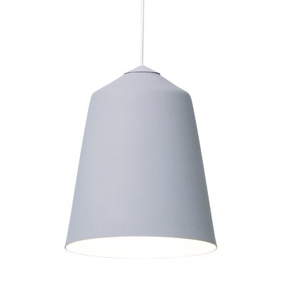Circus 1-Light Bowl Pendant Color: Grey, Size: 7.1 H x 5.9 W x 5.9 D