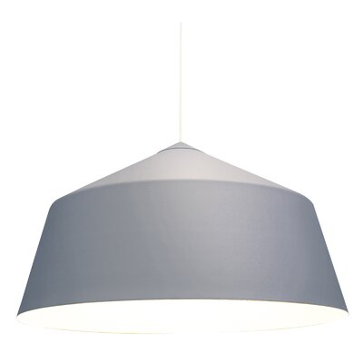 Circus 1-Light Bowl Pendant Size: 14.1 H x 14.1 W x 14.1 D, Color: Grey
