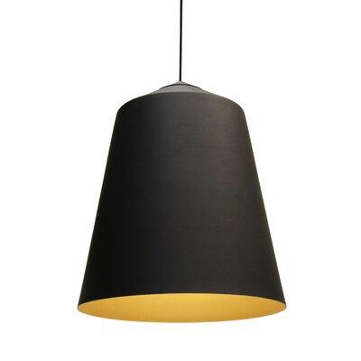 Circus 1-Light Bowl Pendant Color: Black, Size: 14.1 H x 14.1 W x 14.1 D