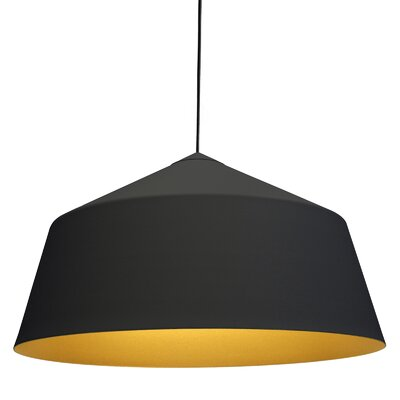 Circus 1-Light Bowl Pendant Size: 14.1 H x 14.1 W x 14.1 D, Color: Black