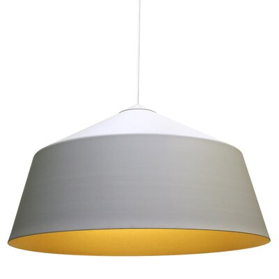 Circus 1-Light Bowl Pendant Size: 12.2 H x 22 W x 22 D, Color: White