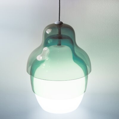 Matrioshka 1-Light Schoolhouse Pendant Color: Blue
