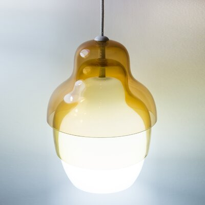 Matrioshka 1-Light Schoolhouse Pendant Color: Yellow