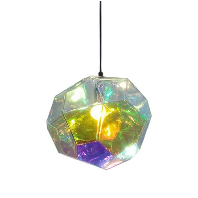 Asteroid 1-Light Mini Pendant Finish: Petrol