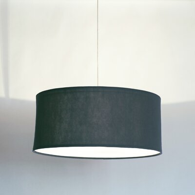 Kobe Polyester Drum Pendant Shade Size: 13.8 H x 31.5 W x 31.5 D, Color: Dark Grey