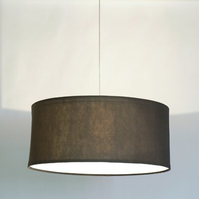 Kobe Polyester Drum Pendant Shade Color: Warm Grey, Size: 13.8 H x 31.5 W x 31.5 D