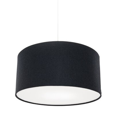 Kobe Polyester Drum Pendant Shade Size: 11.8 H x 23.6 W x 23.6 D, Color: Charcoal