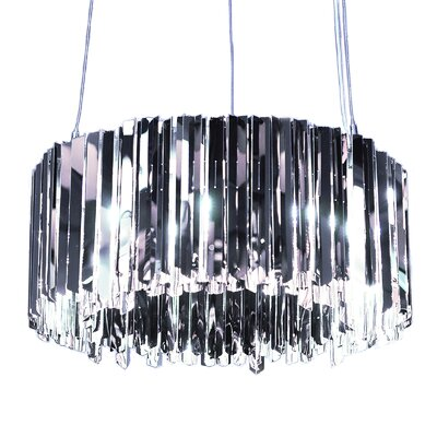 Facet Light Crystal Chandelier Size: 11.8 H x 23.6 W x 23.6 D, Finish: Polished Stainless Steel