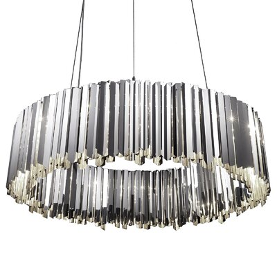 Facet Light Crystal Chandelier Size: 11.8 H x 39.4 W x 39.4 D, Finish: Polished Stainless Steel