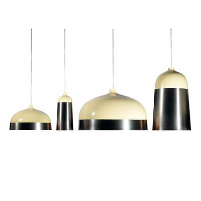 Glaze 1-Light Mini Pendant Size: 11.8 H x 5.5 W x 5.5 D, Color: Cream / Charcoal