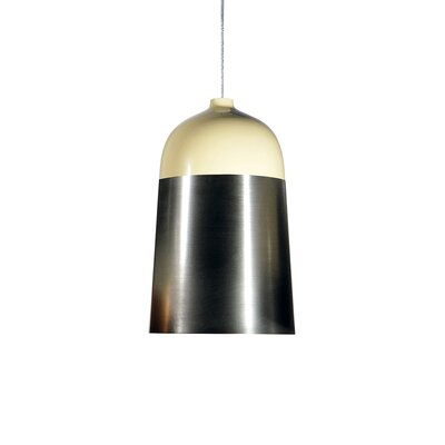 Glaze 1-Light Mini Pendant Size: 20 H x 12.6 W x 12.6 D, Color: Cream / Charcoal
