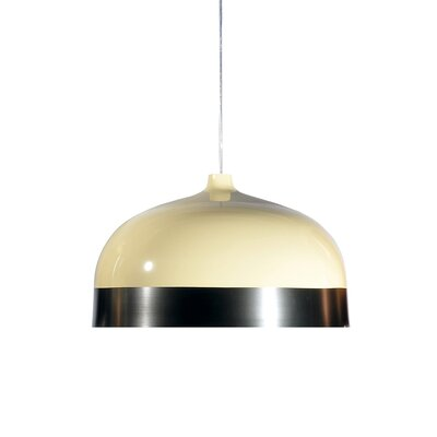 Glaze 1-Light Mini Pendant Size: 13.4 H x 20 W x 20, Color: Cream / Charcoal