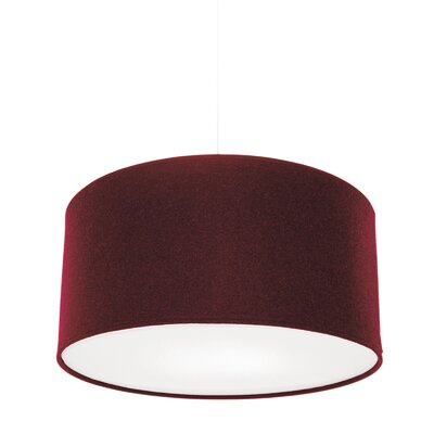 Kobe Polyester Drum Pendant Shade Size: 11.8 H x 23.6 W x 23.6 D, Color: Red