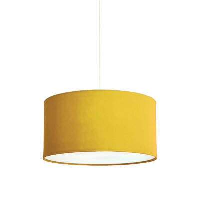 Kobe Polyester Drum Pendant Shade Size: 11.8 H x 23.6 W x 23.6 D, Color: Orchre