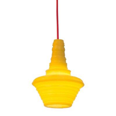 Stupa 1-Light Mini Pendant Color: Yellow