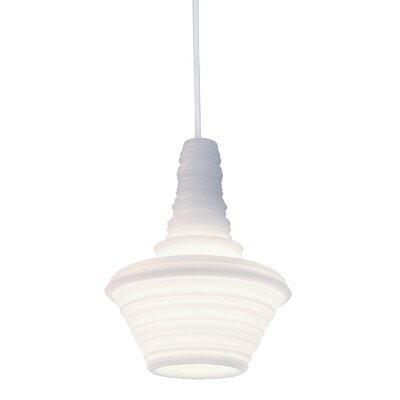 Stupa 1-Light Mini Pendant Color: White