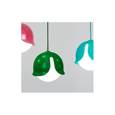 Snowdrop 1-Light Mini Pendant Color: Pink