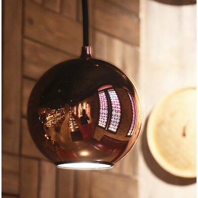 Boule 1-Light Globe Pendant Color: Black