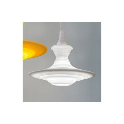 Stupa 1-Light Schoolhouse Pendant Color: White