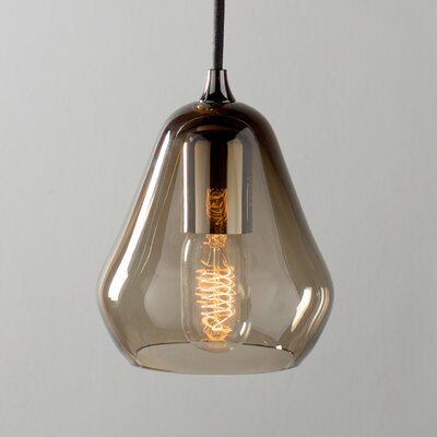 Core 1-Light Mini Pendant Size: 9.4 H x 5.9 W x 5.9 D, Finish: Smoked