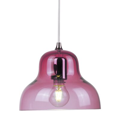 Jelly 1 Light LED Mini Pendant Shade Color: Red
