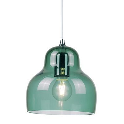 Jelly 1 Light LED Mini Pendant Shade Color: Blue