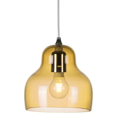 Jelly 1 Light LED Mini Pendant Shade Color: Yellow