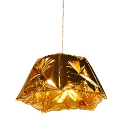 Small Dent 21 Novelty Lamp Shade Color: Gold