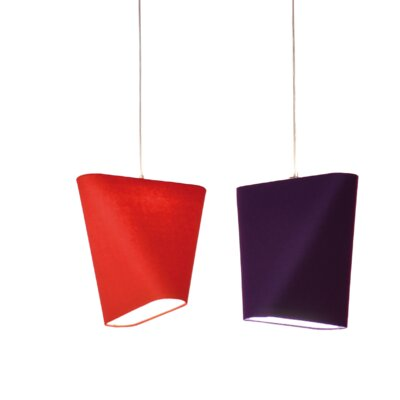 MNM 23.6 Linen Novelty Lamp Shade Color: Red