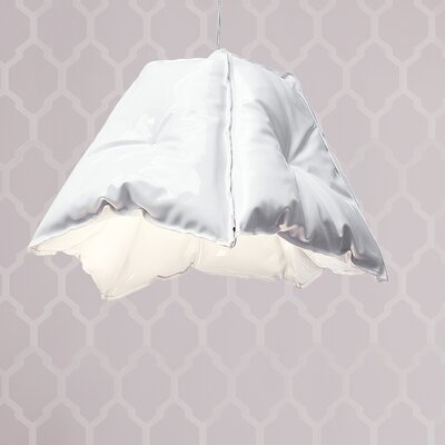 Large Dent 31 Novelty Lamp Shade Color: White