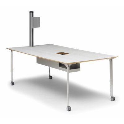Training Table Finish: Grey Mist, Size: 20 - 30 H x 72' W x 42 D Product Photo 101