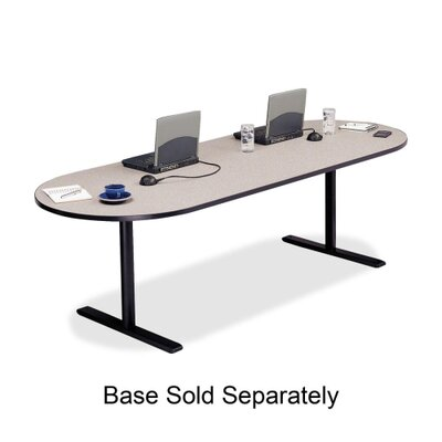 Racetrack Conference Table,42x120x29,Gray Nebula