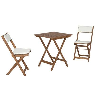 2-Sitzer Balkonset mit Polster | Garten > Balkon > Balkon-Sets | Naturalbrown | Massivholz - Akazie - Rattan - Akazienholz | Siena Garden