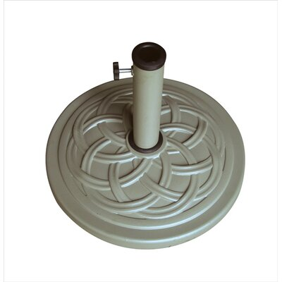 18 Free Standing Round Cast Stone Umbrella Base Finish: Sand