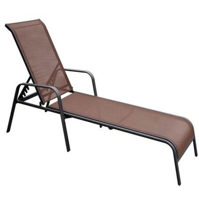 Aubrey Dark Brown Chaise Lounge