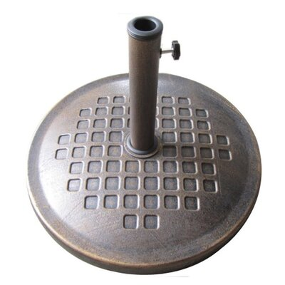 24 Free Standing Round Cast Stone Umbrella Base