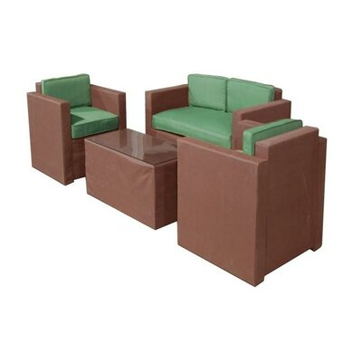 La Fleur 4 Piece Deep Seating Group with Cushion