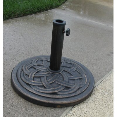 18 Free Standing Round Cast Stone Umbrella Base Finish: Bronze
