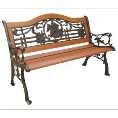 DC America Sea Shell Wood and Cast Iron Park Bench | Wayfair