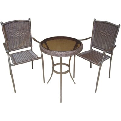 Savannah 3 Piece Wicker Bistro Set
