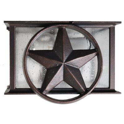 Americana 2-Light Flush Mount Finish: Black