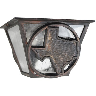 Americana 2-Light Flush Mount Finish: Aged Silver