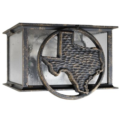 Americana 2-Light Flush Mount Finish: Patina Bronze