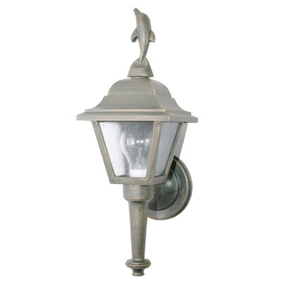 "Melissa Americana Dolphin Series 17"" Wall Lantern - Finish: Old Bronze at Sears.com"