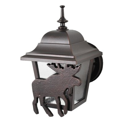 "Melissa Americana Moose Series 9.75"" Wall Lantern - Finish: Old World at Sears.com"